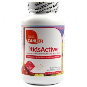 KidsActive Fórmula Avançada ADHD Zahler 180 Tabletes. Mastigáveis   Comprar Suplemento em Promoção Site Barato e Bom