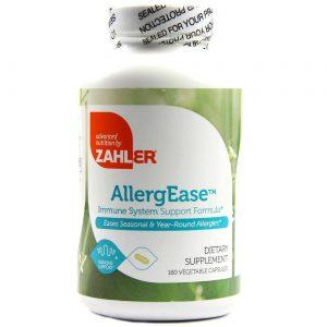 AllergEase Suporte à Alergias Crônicas e Sazonais Zahlers 180 Cápsulas   Comprar Suplemento em Promoção Site Barato e Bom