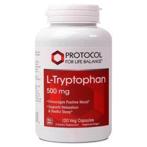 Protocol for Life Balance L-Tryptophan - 500 mg - 120 Cápsulas Vegetarianas   Comprar Suplemento em Promoção Site Barato e Bom
