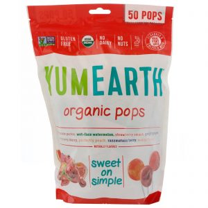 YumEarth, Organic Pops, Sabores Variados, 50 Pops, 12.3 oz (349 g)   Comprar Suplemento em Promoção Site Barato e Bom