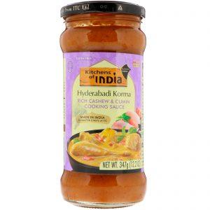 Kitchens of India, Hyderabadi Korma, Rich Cashew & Cumin Cooking Sauce, Medium, 12.2 oz (347 g)   Comprar Suplemento em Promoção Site Barato e Bom