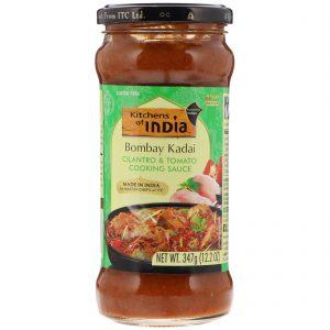 Kitchens of India, Bombay Kadai, Cilantro & Tomato Cooking Sauce, Medium, 12.2 oz (347 g)   Comprar Suplemento em Promoção Site Barato e Bom
