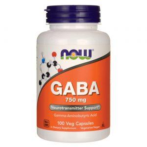 GABA 750 mg Now Foods 100 Cápsulas Vegetarianas   Comprar Suplemento em Promoção Site Barato e Bom