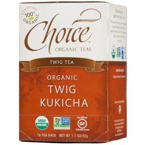 Choice Organic Teas, Chá Twig Kukicha Orgânico, 16 Saquinhos, 1,1 oz (32 g)   Comprar Suplemento em Promoção Site Barato e Bom