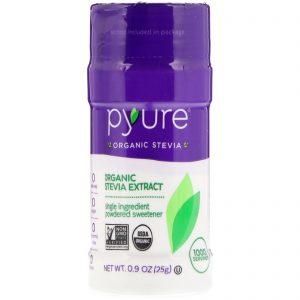 Pyure, Organic Stevia Extract, Powdered Sweetener, 0.9 oz (25 g)   Comprar Suplemento em Promoção Site Barato e Bom