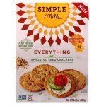 Simple Mills, Sprouted Seed Crackers, Everything, 4.25 oz   Comprar Suplemento em Promoção Site Barato e Bom