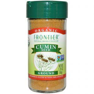 Frontier Natural Products, Semente de Cominho Orgânico, Moída, 1,76 onças (50 g)   Comprar Suplemento em Promoção Site Barato e Bom