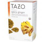 Tazo Teas, Orgânico, Chá de Ervas, Gengibre Picante, Sem Cafeína, 20 Sachês, 1.3 oz (38 g)   Comprar Suplemento em Promoção Site Barato e Bom