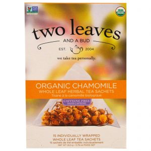 Two Leaves and a Bud, Chá de Ervas Camomila Orgânica, Sem Cafeína, 15 Sachês, 0.79 oz (22,5 g)   Comprar Suplemento em Promoção Site Barato e Bom