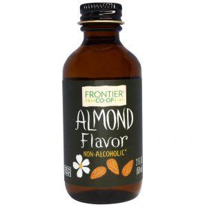 Frontier Natural Products, Almond Flavor, Alcohol-Free, 2 fl oz (59 ml)   Comprar Suplemento em Promoção Site Barato e Bom