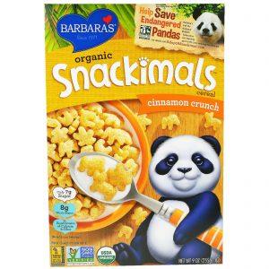 Barbara's Bakery, Cereal Snackimals, Orgânico, Canela Crocante, 9 oz (255g)   Comprar Suplemento em Promoção Site Barato e Bom