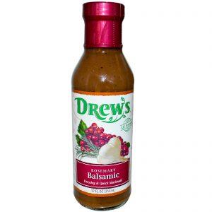 Drew's Organics, Molho & Marinada Rápida, Alecrim Balsâmico, 12 fl oz (354 ml)   Comprar Suplemento em Promoção Site Barato e Bom
