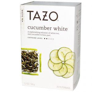 Tazo Teas, Chá Branco de Pepino, 20 Sachês, 1.2 oz (34 g)   Comprar Suplemento em Promoção Site Barato e Bom