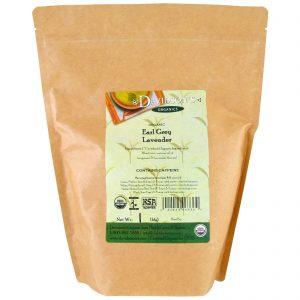 Davidson's Tea, Orgânico, Chá Earl Grey de lavanda, 1 lb (453,59 g)   Comprar Suplemento em Promoção Site Barato e Bom