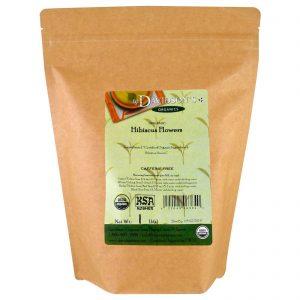 Davidson's Tea, Orgânico, Chá de Flores de Hibisco, Sem Cafeína, 453 g (1 lb)   Comprar Suplemento em Promoção Site Barato e Bom
