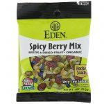 Eden Foods, Orgânico, Lanches de Bolso, Mix de Frutas Silvestres Picantes, 12 Pacotes, 28,3 g (1 oz) Cada   Comprar Suplemento em Promoção Site Barato e Bom