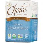 Choice Organic Teas, Chá Herbal Orgânico, Camomila, Sem Cafeína, 16 Saquinhos, 0,5 oz (14 g)   Comprar Suplemento em Promoção Site Barato e Bom