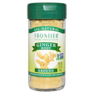 Frontier Natural Products, Raiz de Gengibre, Moída, 1.52 oz (43 g)   Comprar Suplemento em Promoção Site Barato e Bom