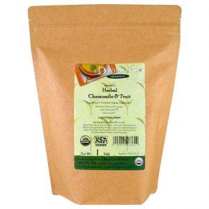 Davidson's Tea, Orgânico, Chá Herbáceo de Camomila e Frutas, Sem Cafeína, 453 g (1 lb)   Comprar Suplemento em Promoção Site Barato e Bom