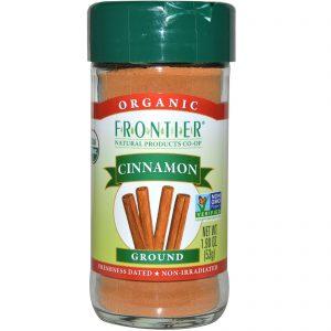 Frontier Natural Products, Canela Orgânica, Moída, 1,9 onças (53 g)   Comprar Suplemento em Promoção Site Barato e Bom