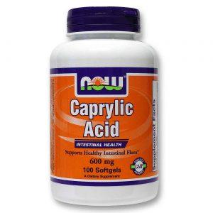 Ácido Caprílico 600 mg Now Foods 100 Cápsulas em Gel   Comprar Suplemento em Promoção Site Barato e Bom