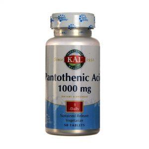 Kal O ácido pantotênico 1.000 mg Libertação Prolongada 50 Tabletes   Comprar Suplemento em Promoção Site Barato e Bom