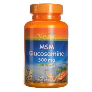 Thompson MSM Glucosamina 500 mg 60 Tabletes   Comprar Suplemento em Promoção Site Barato e Bom