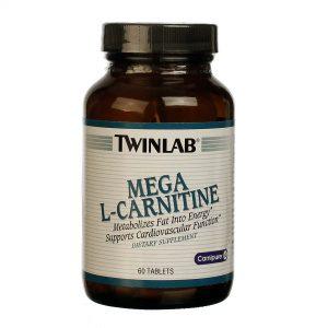 Twinlab Mega L-Carnitina 60 Tabletes   Comprar Suplemento em Promoção Site Barato e Bom