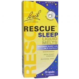 Bach Flower Remedies Resgate do sono líquido derrete 28 Cápsulas   Comprar Suplemento em Promoção Site Barato e Bom