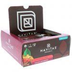 Navitas Organics, Barras de Superalimentos+, Cacau e Cranberry, 12 Barras, 480 g (16,8 oz)   Comprar Suplemento em Promoção Site Barato e Bom
