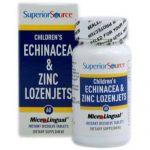Superior Source Children's Equinácea and Zinco Lozenjets - 60 Tabletes   Comprar Suplemento em Promoção Site Barato e Bom