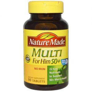 Nature Made Multi for Him 50+ - 90 Tabletes   Comprar Suplemento em Promoção Site Barato e Bom