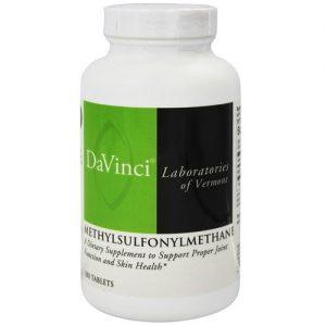DaVinci Laboratories Methylsulfonylmethane - 180 Tabletes   Comprar Suplemento em Promoção Site Barato e Bom