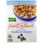 Kashi, Heart to Heart, Flocos de Aveia e Pedaços de Blueberry, 380 g (13,4 oz)   Comprar Suplemento em Promoção Site Barato e Bom