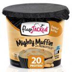 FlapJacked, Mighty Muffin, com Probióticos, Manteiga de Amendoim, 1,94 oz (55 g)   Comprar Suplemento em Promoção Site Barato e Bom