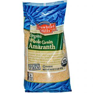 Arrowhead Mills, Amaranto Integral Orgânico, 453 g (16 oz)   Comprar Suplemento em Promoção Site Barato e Bom