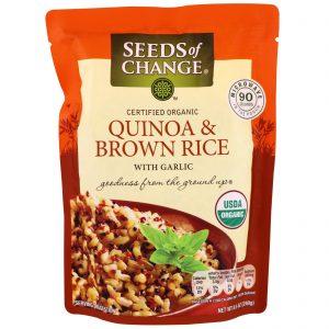 Seeds of Change, Orgânico, Quinoa e Arroz Castanho, com Alho, 240 g (8,5 oz)   Comprar Suplemento em Promoção Site Barato e Bom