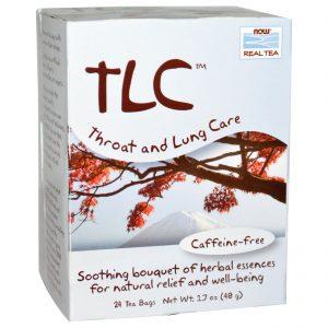 Now Foods, Chá de Verdade, TLC, Chá para Cuidados da Garganta e Pulmão Chá, Sem Cafeína, 24 Sacos de Chá, 1.7 oz (48 g)   Comprar Suplemento em Promoção Site Barato e Bom