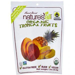 Natierra Nature's All , Organic Freeze-Dried, Tropical Fruits, 1.5 oz (42.5 g)   Comprar Suplemento em Promoção Site Barato e Bom