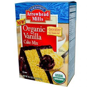 Arrowhead Mills, Mix Orgânico Bolo de Baunilha, 18.2 oz (517 g)   Comprar Suplemento em Promoção Site Barato e Bom
