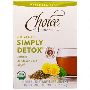 Choice Organic Teas, Organic, Simply Detox, Roasted Dandelion Root Blend, 16 Tea Bags, .85 oz (24 g)   Comprar Suplemento em Promoção Site Barato e Bom