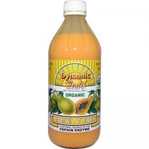 Dynamic Health Laboratories, Organic, Papaya Puree, 16 fl oz (473 ml)   Comprar Suplemento em Promoção Site Barato e Bom