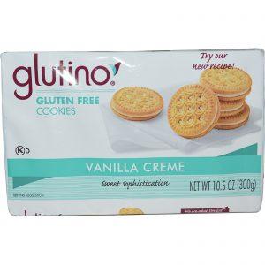 Glutino, Biscoitos Sem Glúten, Creme de Baunilha, 10.5 oz (300 g)   Comprar Suplemento em Promoção Site Barato e Bom