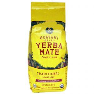 Guayaki, Erva Mate, Folhas Soltas Tradicionais, 8 oz (227 g)   Comprar Suplemento em Promoção Site Barato e Bom