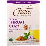Choice Organic Teas, Orgânico, Conforto para a Garganta, Mistura de Raízes de Marshmallow, 16 Sachês, 1,1 oz (32 g)   Comprar Suplemento em Promoção Site Barato e Bom