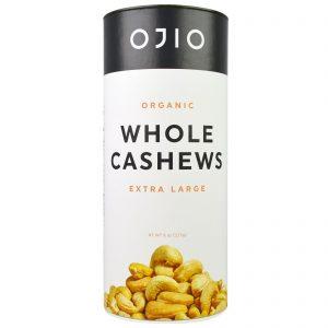 Ojio, Castanha de Caju Inteira Orgânica, Extra Grande, 8 oz (227 g)   Comprar Suplemento em Promoção Site Barato e Bom