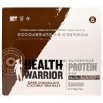 Health Warrior, Inc., Barra de Proteínas de Superalimentos, Chocolate Escuro, Coco e Sal Marinho, 12 Barras, 50 g Cada   Comprar Suplemento em Promoção Site Barato e Bom