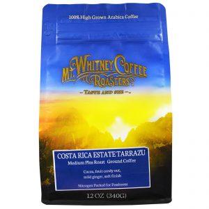 Mt. Whitney Coffee Roasters, Costa Rica Estate Tarrazu, Tostado Médio Plus, Café Moído, 12 oz (340 g)   Comprar Suplemento em Promoção Site Barato e Bom