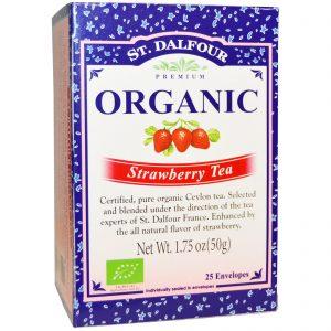 St. Dalfour, Chá de Morango Orgânico, 25 Envelopes, 1,75 oz (50 g)   Comprar Suplemento em Promoção Site Barato e Bom