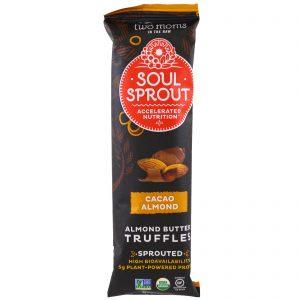Two Moms in the Raw, Soul Sprout, Organic, Cacao Almond Butter Truffles, 2.0 oz (57 g) (Discontinued Item)   Comprar Suplemento em Promoção Site Barato e Bom